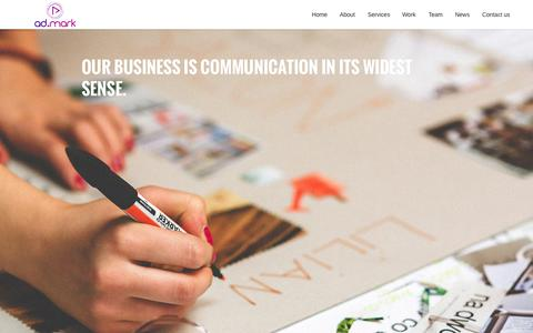 Screenshot of Home Page admarkgulf.com - ad.mark | Visual communications agency | Advertising Agency | Branding agency | Bahrain - captured Nov. 6, 2015