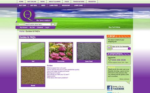 Screenshot of FAQ Page qlawns.co.uk - Guides & FAQ's -  Q Lawns - captured Sept. 26, 2014