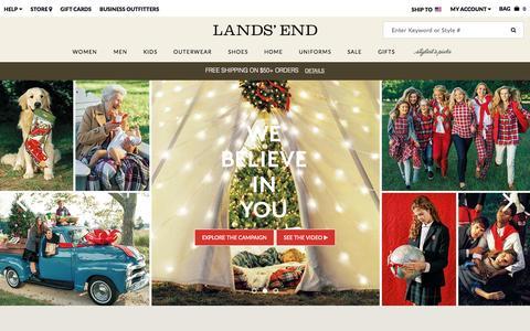 Screenshot of Home Page landsend.com - Lands' End | Sweaters, Coats, Jeans, Dress Shirts & More - captured Nov. 11, 2015