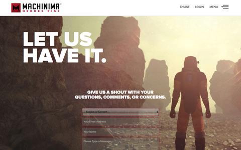 Screenshot of Contact Page machinima.com - Machinima - captured Nov. 10, 2015