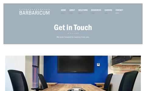 Screenshot of Contact Page barbaricum.com - Contact • Barbaricum - captured Jan. 26, 2020