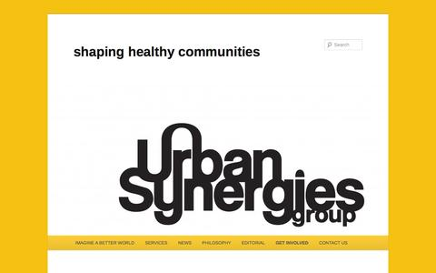 Screenshot of Terms Page urbansynergies.org - terms & conditions | shaping healthy communities - captured Dec. 1, 2016