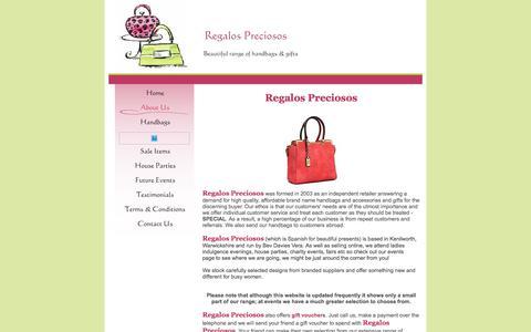 Screenshot of About Page regalospreciosos.co.uk - Regalos Preciosos - About Us - captured Sept. 20, 2018