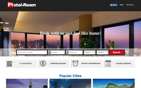 Screenshot of Home Page hotel-room.com - Hotel-Room - Find Hotel Deals, Cheap Rooms & Discounts - captured Sept. 30, 2018