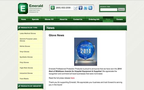Screenshot of Press Page emeraldppp.com - News   Emerald Professional Protection Products - captured Oct. 2, 2014