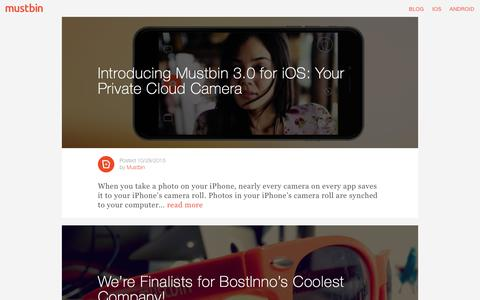 blog | Mustbin | Your Private Cloud Camera