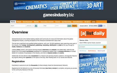 Screenshot of About Page gamesindustry.biz - About Us | GamesIndustry.biz - captured Sept. 18, 2014