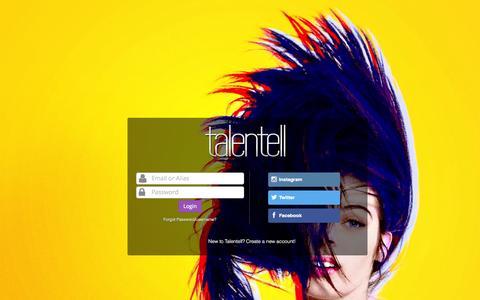 Screenshot of Login Page talentell.com - Talentell - Login - captured Oct. 27, 2014