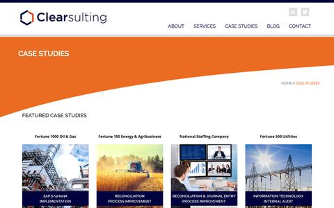 Screenshot of Case Studies Page clearsulting.com - Case Studies | Clearsulting : Clearsulting - captured March 7, 2019