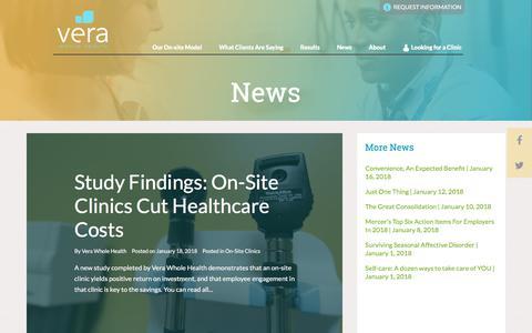Screenshot of Press Page verawholehealth.com - Vera Whole Health News - captured Jan. 21, 2018