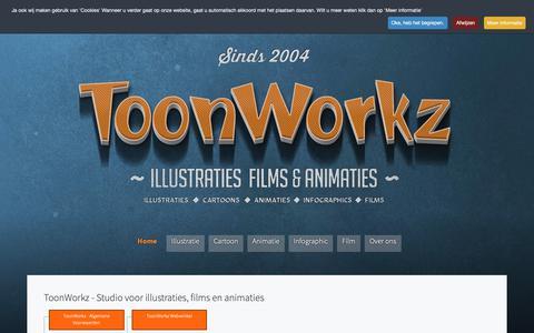 Screenshot of Site Map Page toonworkz.nl - ToonWorkz - Studio voor illustraties, films en animaties - captured Oct. 20, 2018