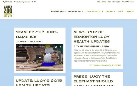Screenshot of Press Page buildingourzoo.com - Valley Zoo Development Society | VZDS Press - captured Oct. 19, 2017