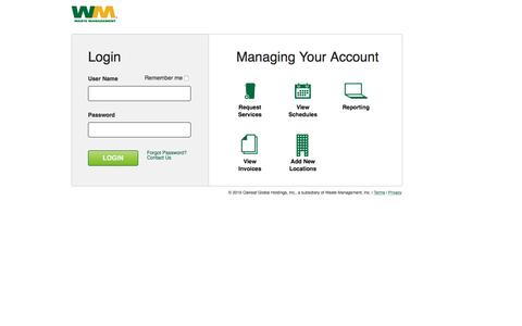 Login to EBusiness          | Waste Management eBusiness