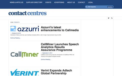 Screenshot of Products Page contact-centres.com - Products Archives • Contact-Centres.comContact-Centres.com - captured Oct. 28, 2014