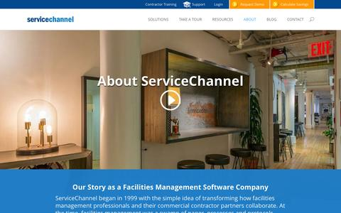 Screenshot of About Page servicechannel.info - Facilities Management Company | ServiceChannel - captured Feb. 3, 2016