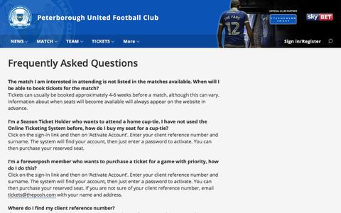 Screenshot of FAQ Page theposh.com - Frequently Asked Questions - captured June 27, 2017