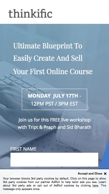 Free workshop on how to successfully create and sell  online courses.