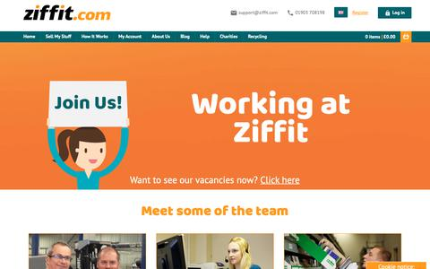 Screenshot of Jobs Page ziffit.com - Working at Ziffit | Vacancies | Careers - captured Dec. 11, 2018