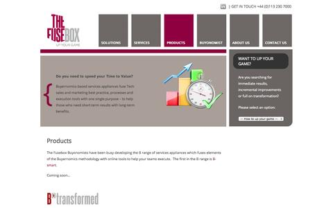 Screenshot of Products Page thefusebox.com - The Fusebox Products » The Fusebox - captured Oct. 7, 2014