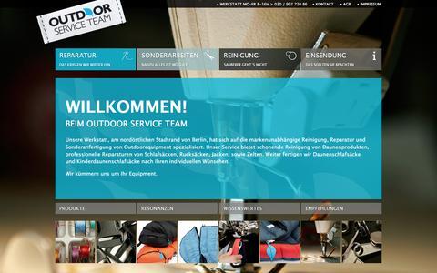 Screenshot of Home Page outdoor-service.com - OUTDOOR SERVICE TEAM - captured June 7, 2016