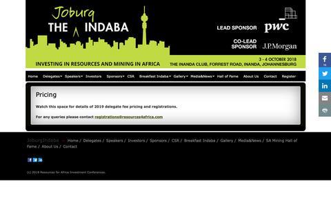 Screenshot of Pricing Page joburgindaba.com - Pricing » JoburgIndaba - captured Nov. 14, 2018