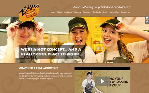 Screenshot of Jobs Page zoup.com - Zoup! Careers - A Really Cool Place to Work - captured Dec. 4, 2015