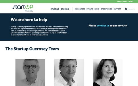 Screenshot of Team Page startup.gg - People - StartUp Guernsey - captured Nov. 17, 2018