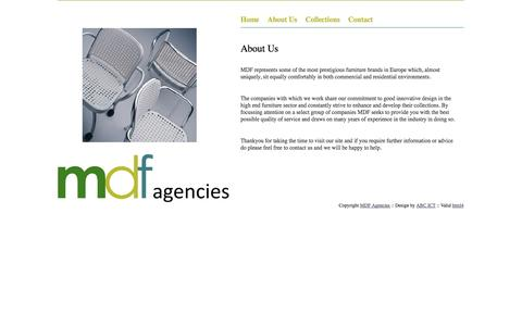 Screenshot of About Page mdfagencies.com - MDF Agencies - About Us - captured Oct. 27, 2014