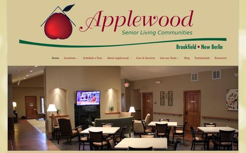 Screenshot of Home Page applewoodliving.com - Applewood Assisted Living - New Berlin WI | Brookfield WI | Assisted Living | Brookfield WI | New Berlin WI - captured Feb. 6, 2016