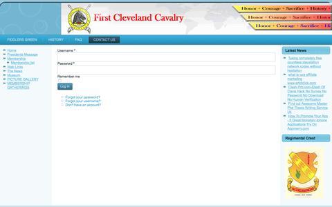 Screenshot of Login Page firstclevelandcavalry.org - LOGIN - captured March 13, 2017