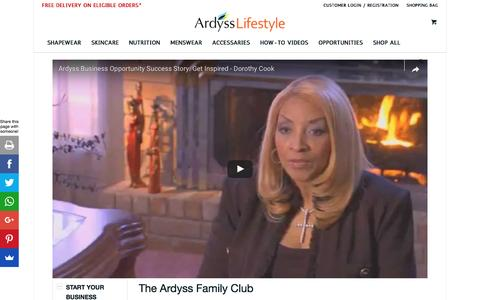 Screenshot of Team Page ardysslifestyle.com - Ardyss Family Club by Ardyss Lifestyle - captured May 30, 2017