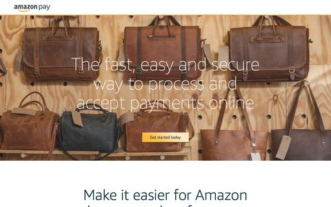 Screenshot of Landing Page amazon.com - Accept Payments Online - captured March 10, 2017