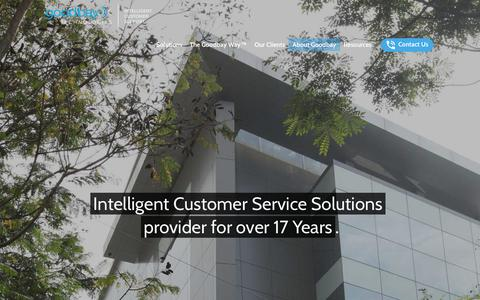 Screenshot of About Page goodbaytech.com - About Our Customer Service Solutions   Goodbay Technologies - captured Sept. 29, 2018