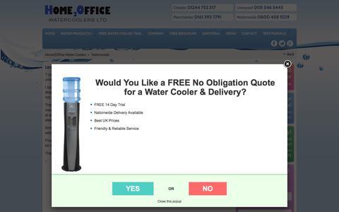 Screenshot of Testimonials Page home2officewatercoolers.co.uk - Testimonials - Home2Office Water Coolers - captured July 5, 2017