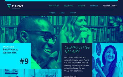 Screenshot of Jobs Page fluentco.com - Fluent - Careers - captured Jan. 18, 2018