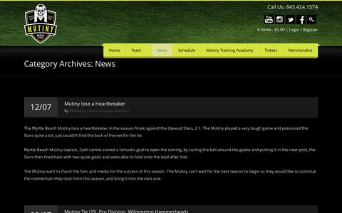 Screenshot of Press Page mbmutiny.com - News   mbmutiny.com - captured Oct. 3, 2014