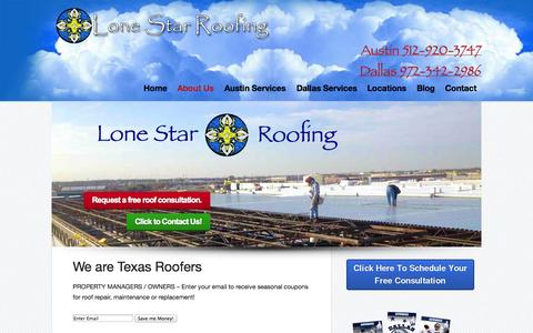 Screenshot of About Page flatroofspecialist.net - Commercial Roofing |  | Lone Star Commercial Roofing - captured Oct. 3, 2014