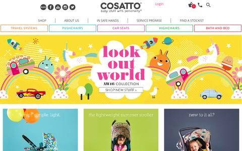 Screenshot of Home Page cosatto.com - Baby Prams, Pushchairs, Car Seats & More - Buy Online | Cosatto - captured July 16, 2016