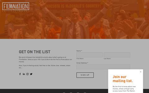 Screenshot of Signup Page filmnation.com - Sign Up — FilmNation Entertainment - captured Oct. 13, 2017