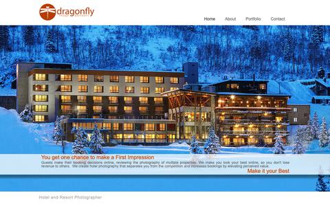 Screenshot of Home Page dragonflyimagepartners.com - Hotel Photographer-Dragonfly Image Partners - captured Dec. 9, 2018