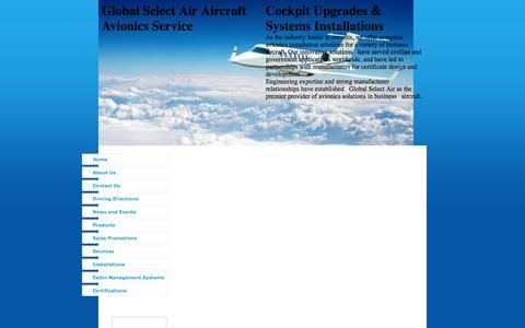 Screenshot of Products Page gsaaircraft.com - Avionics Installations, Global Select Air Aircraft Avionics Service San Bernardino, CA Products - captured Oct. 2, 2014