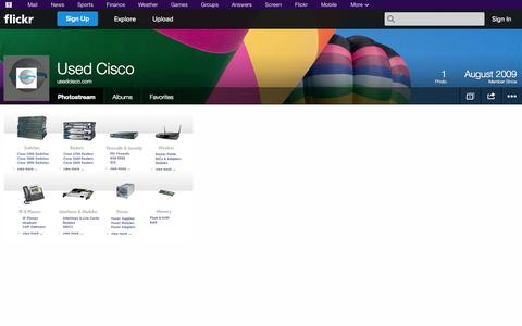 Screenshot of Flickr Page flickr.com - Flickr: usedcisco.com's Photostream - captured Oct. 25, 2014