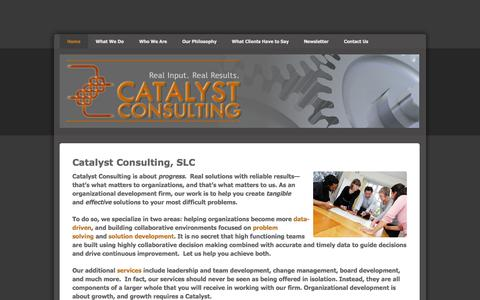 Screenshot of Home Page catalyst-now.com - Catalyst Consulting - Home - captured Oct. 2, 2014