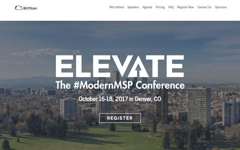 BitTitan Elevate - Join the Modern MSP Revolution