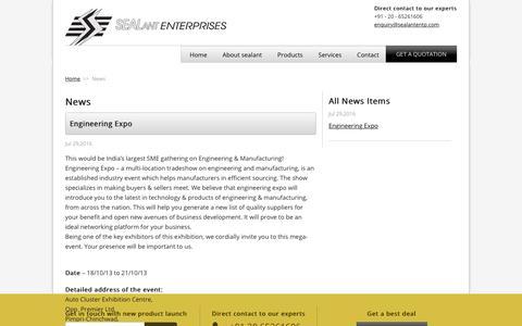 Screenshot of Press Page sealantentp.com - Engineering Expo | Sealant Enterprises - captured Oct. 6, 2017