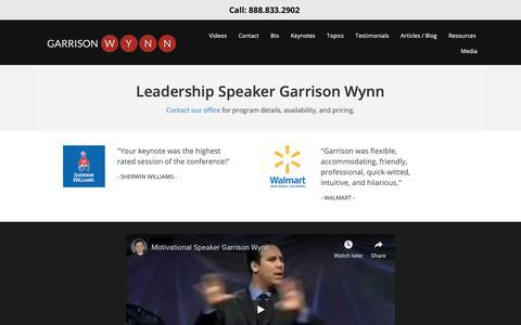 Screenshot of Team Page motivational-speaker-success.com - Leadership Speaker | Leadership Keynote Speaker Houston TX - captured Oct. 21, 2018
