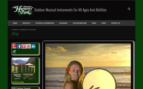 Screenshot of Blog freenotesharmonypark.com - Blog | Outdoor Musical Instruments For All Ages And Abilities - captured Feb. 10, 2016