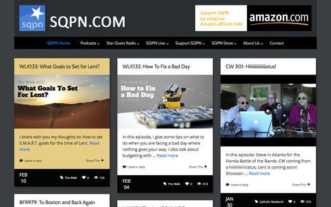 Screenshot of Home Page sqpn.com - SQPN.com - Leading the Way - captured Feb. 11, 2016