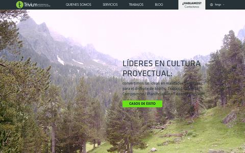Screenshot of Home Page triviumect.com - Turismo y Gestión Cultural - Trivium ECT - captured Oct. 14, 2015