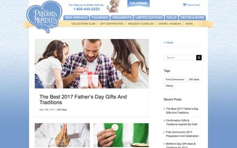 Screenshot of Press Page preciousmoments.com - Home - Precious Moments - captured May 21, 2017